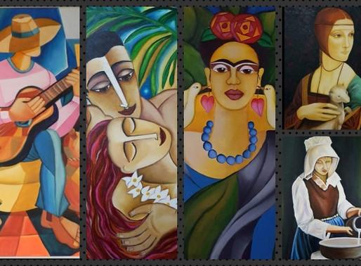 Artes Visuais – Beleza do cubismo nas telas de uma artista paulista!