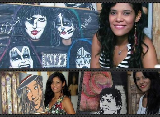 """Arte – Série """"Astros da Música"""" de Milla Freitas à venda"""
