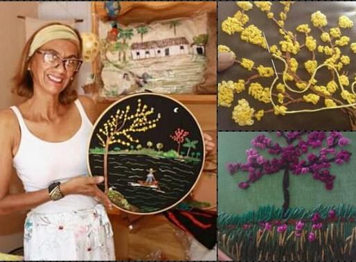 """Exposição – Gisele Fraga mostra sua arte """"Entrelaçando linhas e cores"""" nesta quinta"""