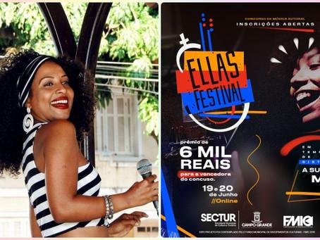 Festival - Ellas e as vozes das mulheres do MS neste sábado e domingo