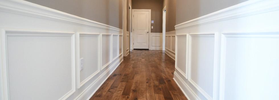 Hardwood Hallway with Wainscoting