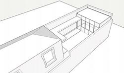BAck garden and external kitchen