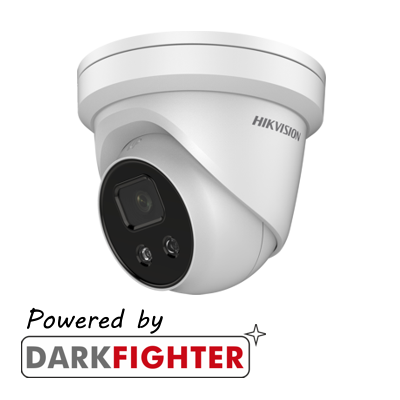 Hikvision AcuSense 4MP fixed lens Darkfighter turret camera with IR and built-in