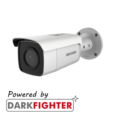Hikvision AcuSense 8MP fixed lens Darkfighter bullet camera with IR