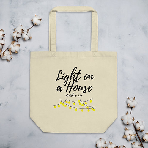 Light on a House with Lights Eco-Friendly Tote Bag