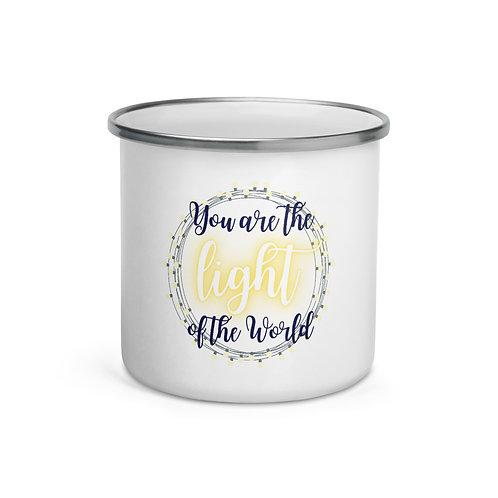 You Are The Light Of The World Enamel Mug