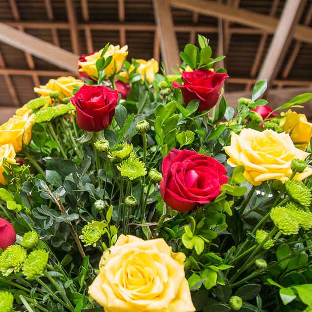 flores para casamento - amarelo - vermelho - quattro fotografias