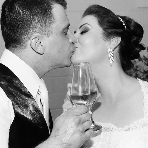 beijo, brinde, casamento, quattro fotografias
