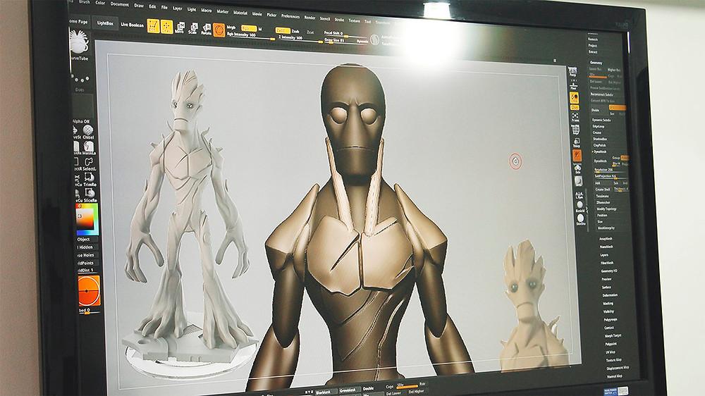 Boceto 3D Groot en zbrush