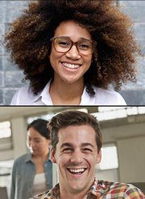 dos personas sonriendo, asesoría onine de taiced