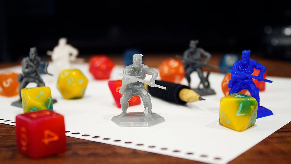 Miniaturas para juegos de rol realizadas con impresión 3D