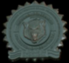 render de medalla de lobo hecha con zbrush