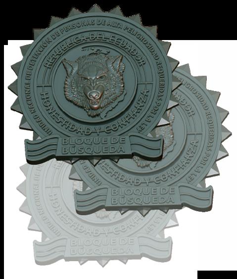 Piocha de lobo medalla