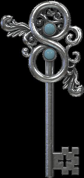 diseño 3d de llave ornamental