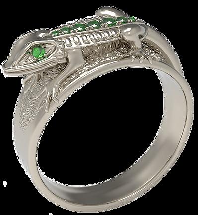 anillo de iguana 3d taiced