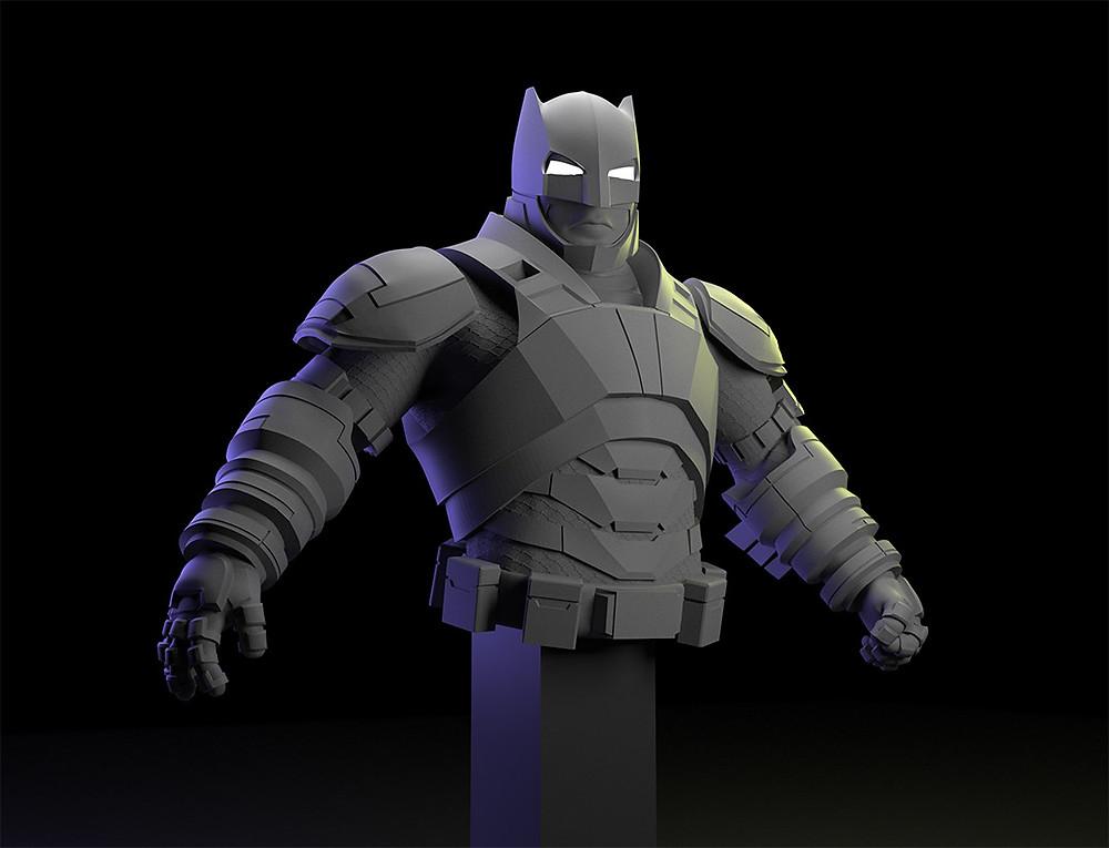 Batman Armored 3D render en Keyshot, by jonadvargas