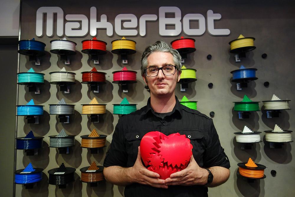 makerbot filamentos corazon