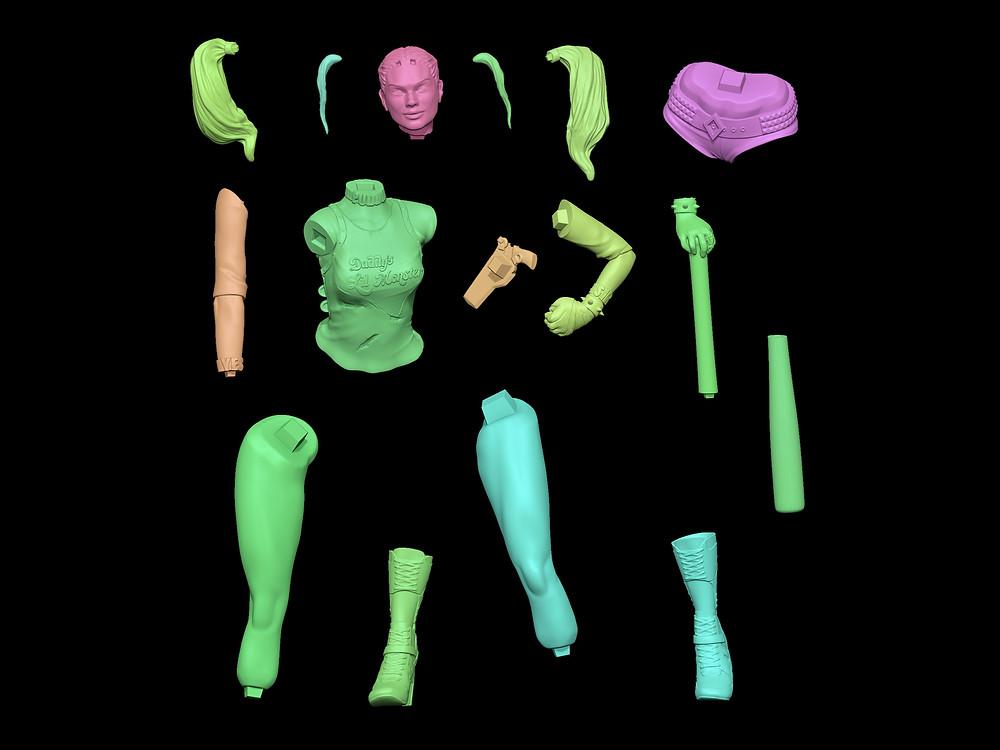 Harley Quinn de Suicide Squad en piezas jonadvargas