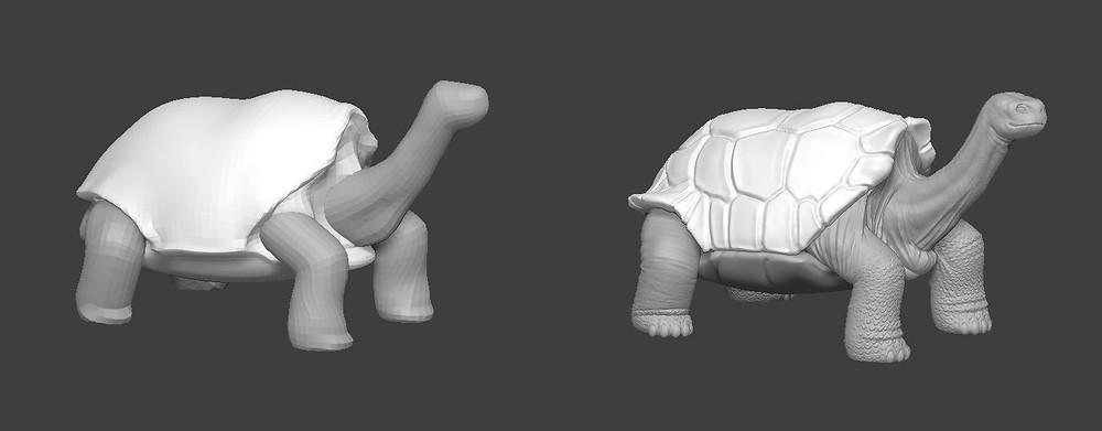 Solitario George creado con Zbrush para Impresion 3D