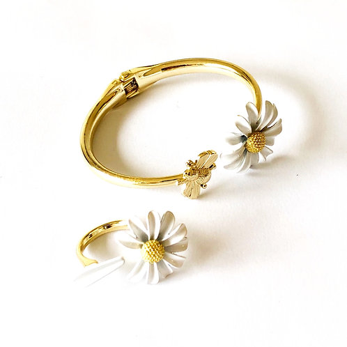 """Armband und Ring """"Daisy"""""""