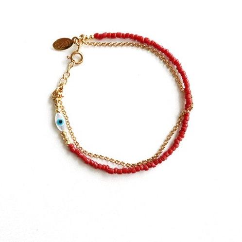 "Armband "" Mystique "" rote Koralle"