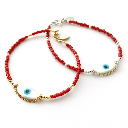 """Armband """"Yeux Deluxe Coral"""""""