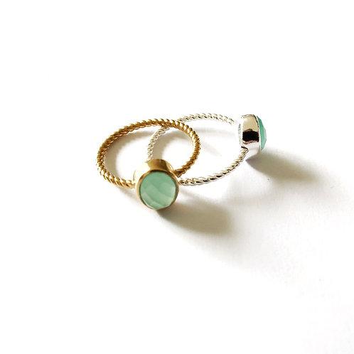"""Ring """" aqua Chalcedony"""""""