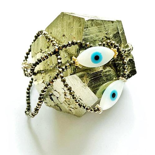 """Armband """" Yeux """"Pyrit"""