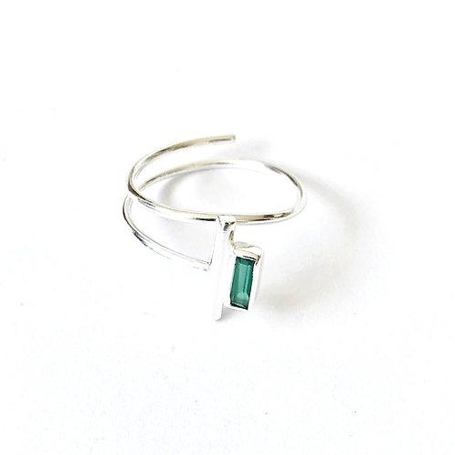 "Ring "" Murielle "" mit grünem Onyx"