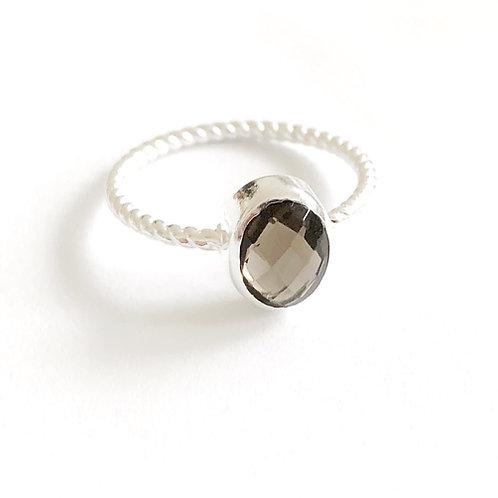 "Ring "" Rauchquarz braun"""