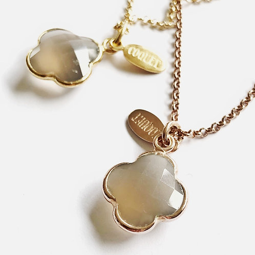 """Kette """" Royal """" Taupe Achat"""