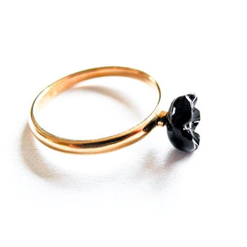 """Ring """" Fleur """"Onyx schwarz"""