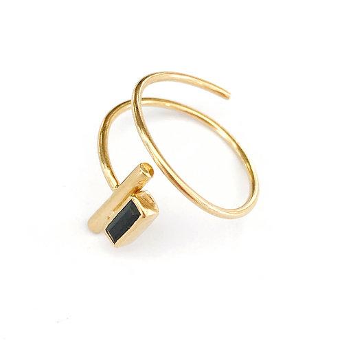"""Ring """" Murielle """"mit schwarzem Spinell"""