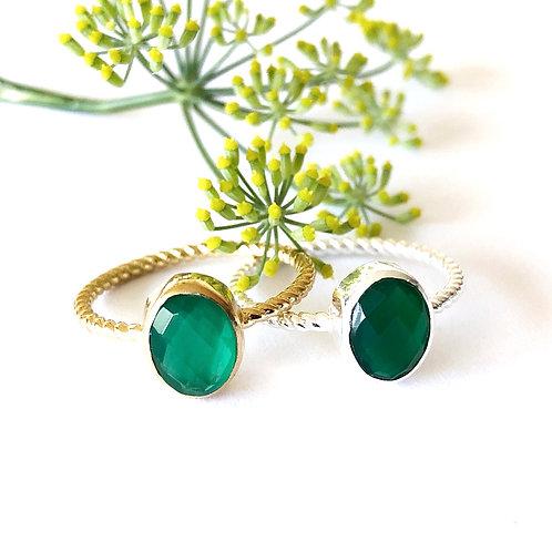 """Ring """" grüner Onyx"""""""