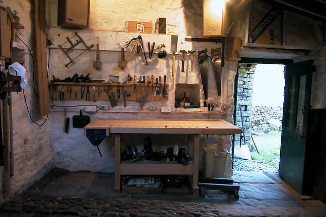 This was my workshop in the old stable of the main barn.