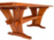 Esherick Dining Table: The design of this dining table has evolved out of my research into the British Arts & Crafts movement, and the work of Wharton Esherick.  ​ At seven and a half feet, it seats 8 very comfortably.   It was made from American Cherry.