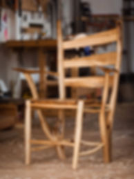 The maple tree used in this series was a family favorite. It stood outside the kitchen window, and was home to the birdhouses and feeders. These chairs are a tribute to both the tree and the man who loved it.