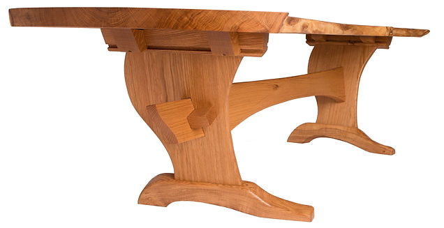 Part of the Shaver series. This coffee table was built from trees that had died on the owners property. The adjacent, matching slabs will be used to build a mantel piece, shelves, and a dining table -- all in the same room.