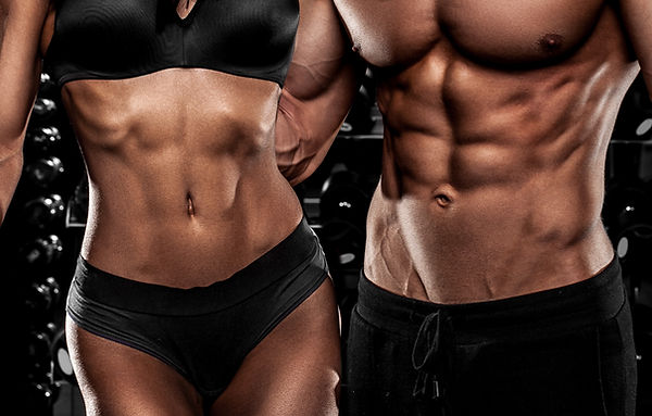 beautiful couple in the fitness gym.jpg