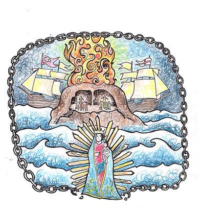 Disegno di Francesco Piobbichi - U Santuariu da Madonna di Portu Salvu d'Ampidusa