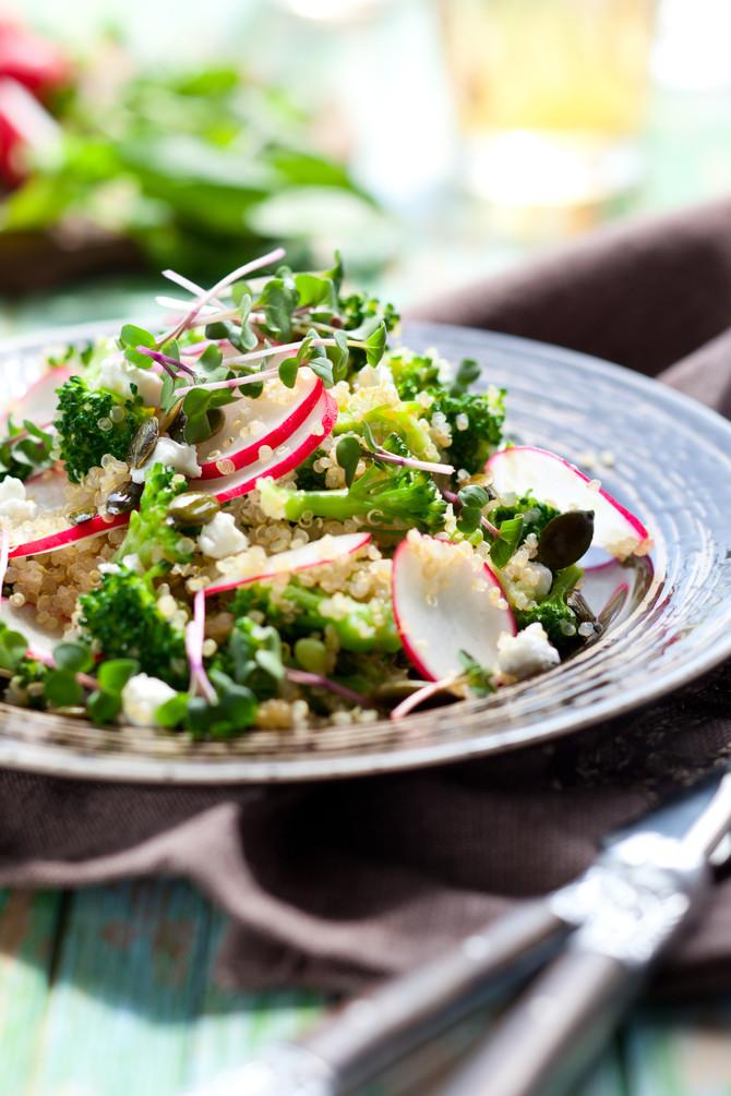 Cauliflower Broccoli Detox Salad