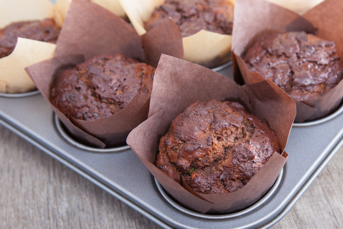 Healthy Chocolate Banana Muffins (sneakily turned into cupcakes!)
