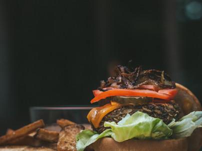 GF Lentil Mushroom Cheeseburger