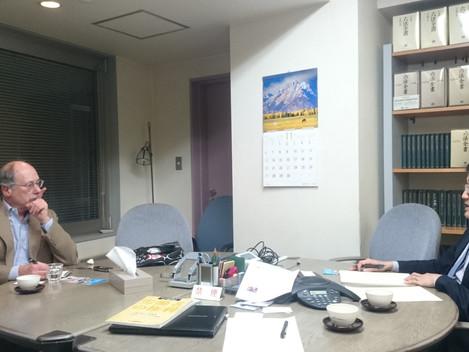 UCLAジャコビー教授来所!「シェアリングエコノミー」「ウーバー」について意見交換