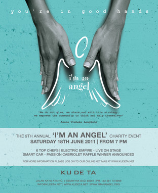 I am an angel. Charity event