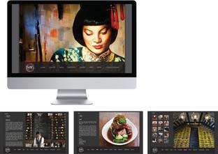 Website layout design for Mamasan, Bali
