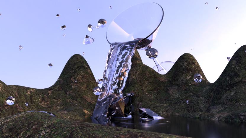 Gin Waterfall