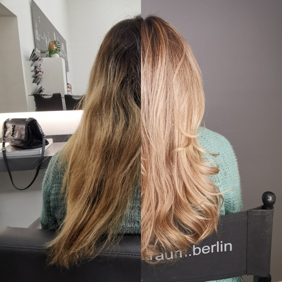 Balayage before / after