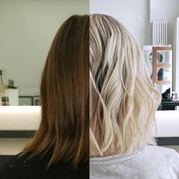 Balayage before / after