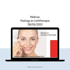 Webinar Peelings en Lichttherapie